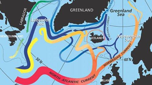 Oceaanstromen Noordelijk Halfrond