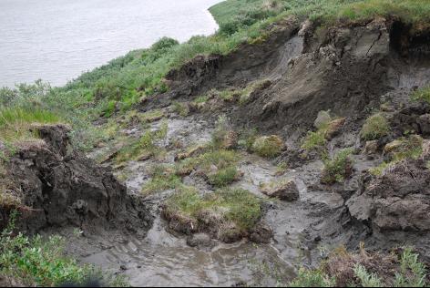 Permafrost aardverschuiving