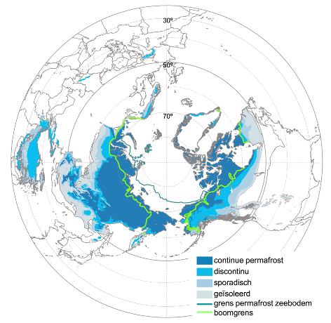 Permafrost map