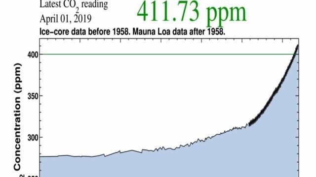 toename van de CO2-concentratie in de atmosfeer